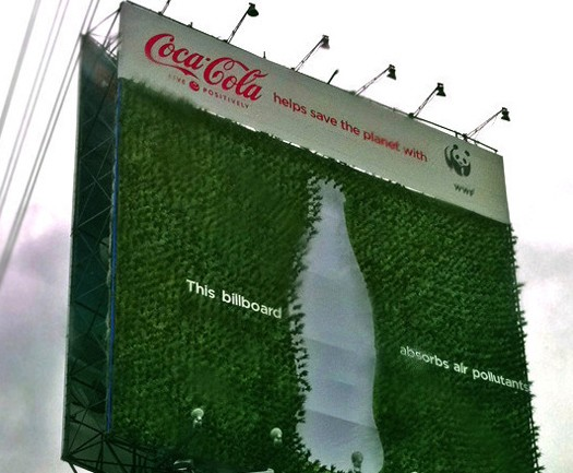 Coca-Cola Green Billboard